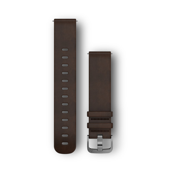 vivomove HR Replacement Band Dark Brown Leather L
