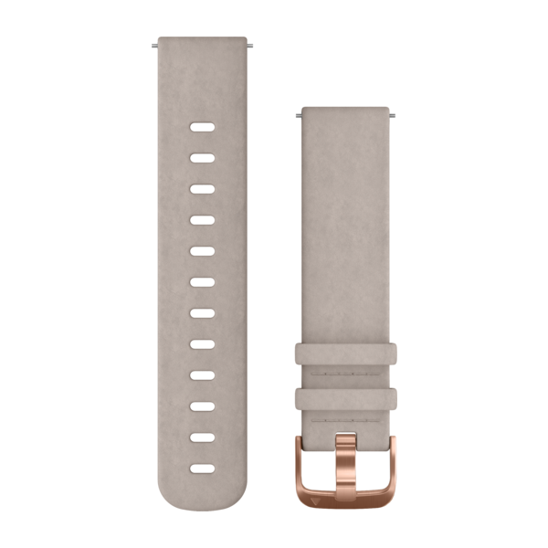 vivomove HR Replacement Band Gray Leather