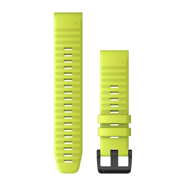 Quickfit 22mm Amp Yellow Silicone Band