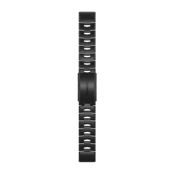 Quickfit 22mm Vented Titanium Bracelet with Carbon Grey DLC Coating Band