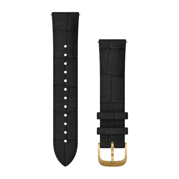 Band Vivomove 20mm Black Leather