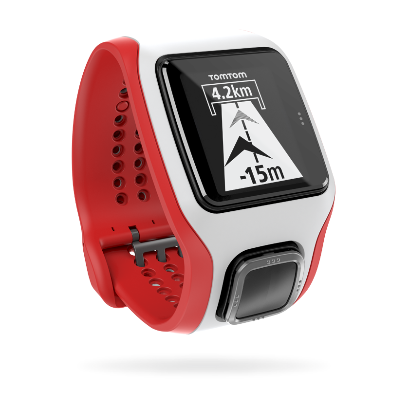 TomTom Runner Cardio - wit/rood