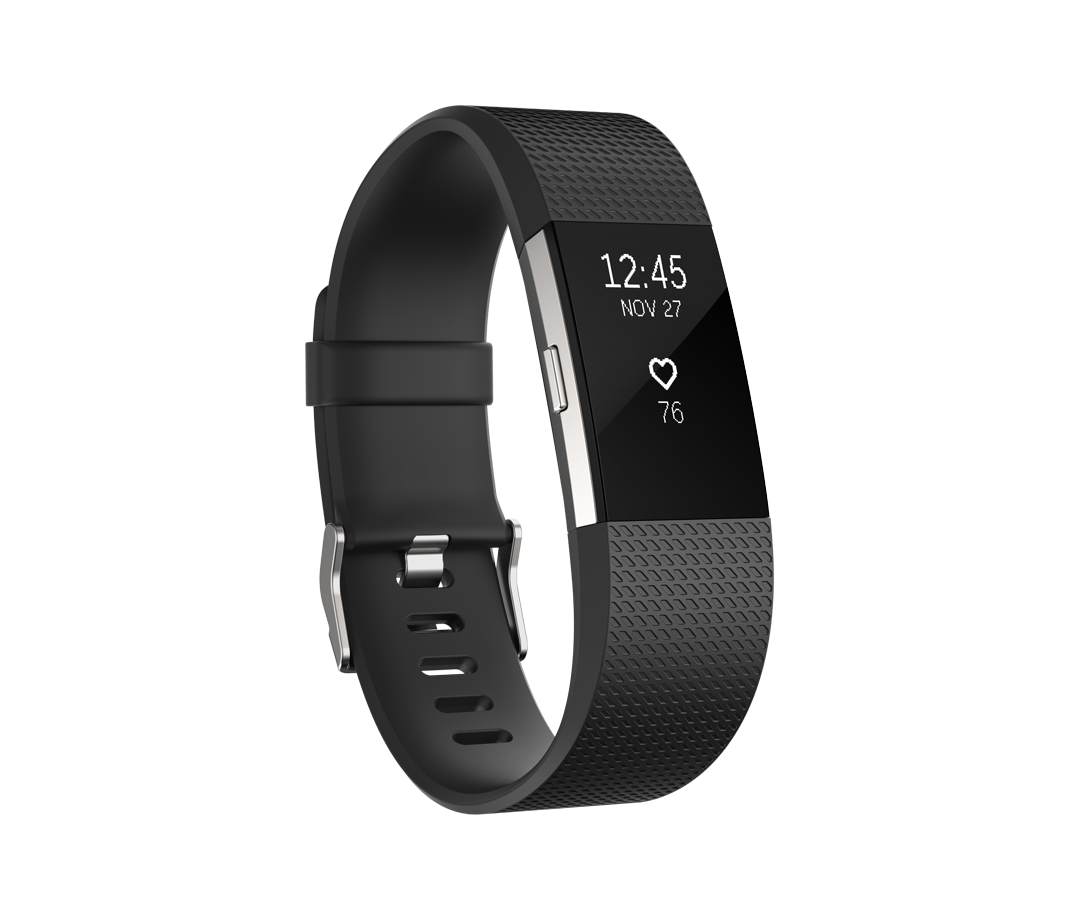Fitbit Charge HR 2 zwart - large