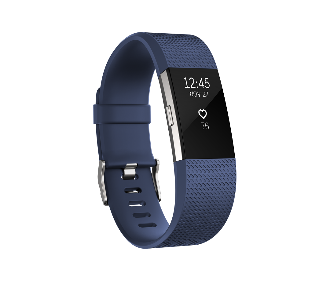 Fitbit Charge HR 2 blauw - large