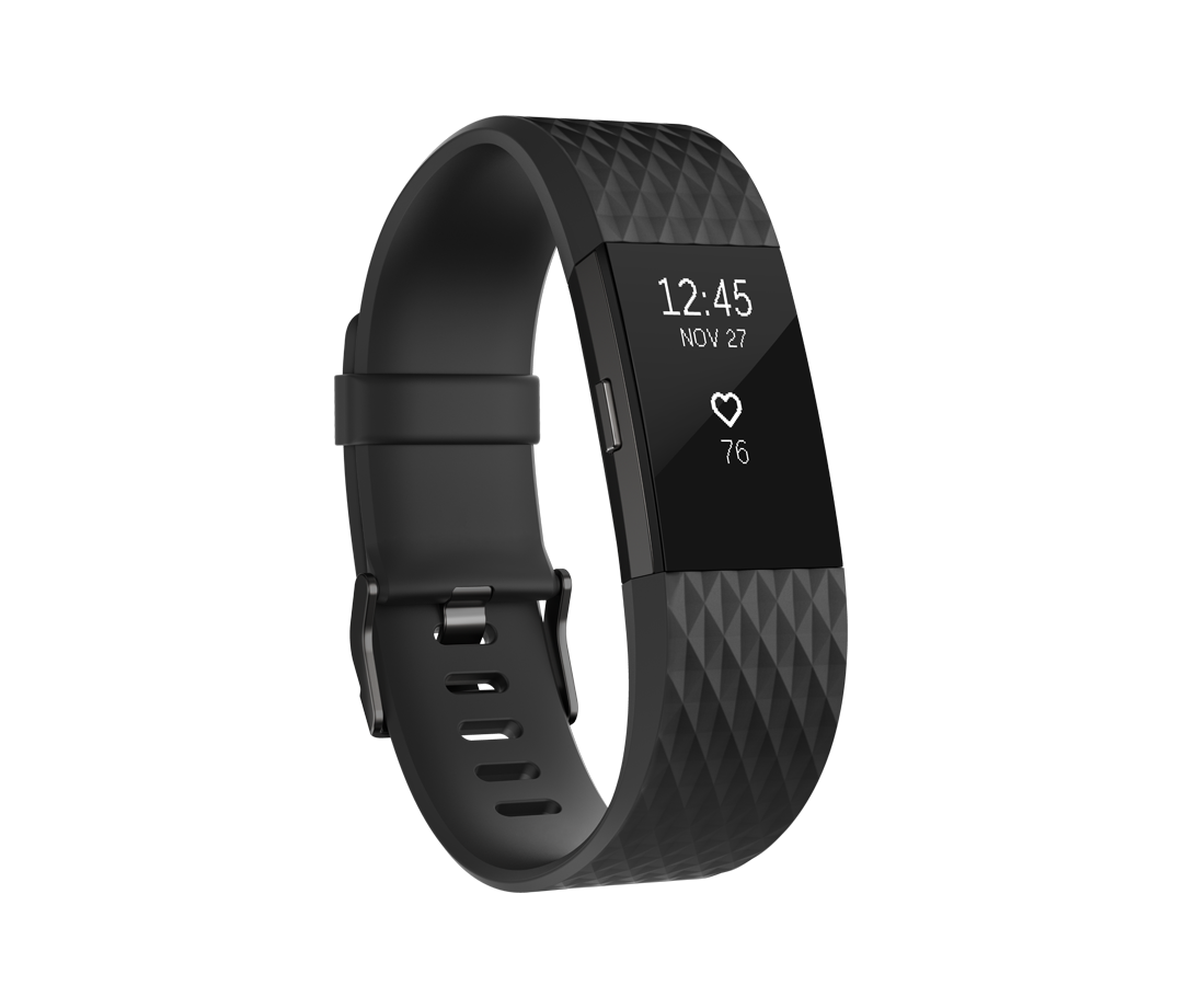 Fitbit Charge HR 2 zwart gunmetal - small