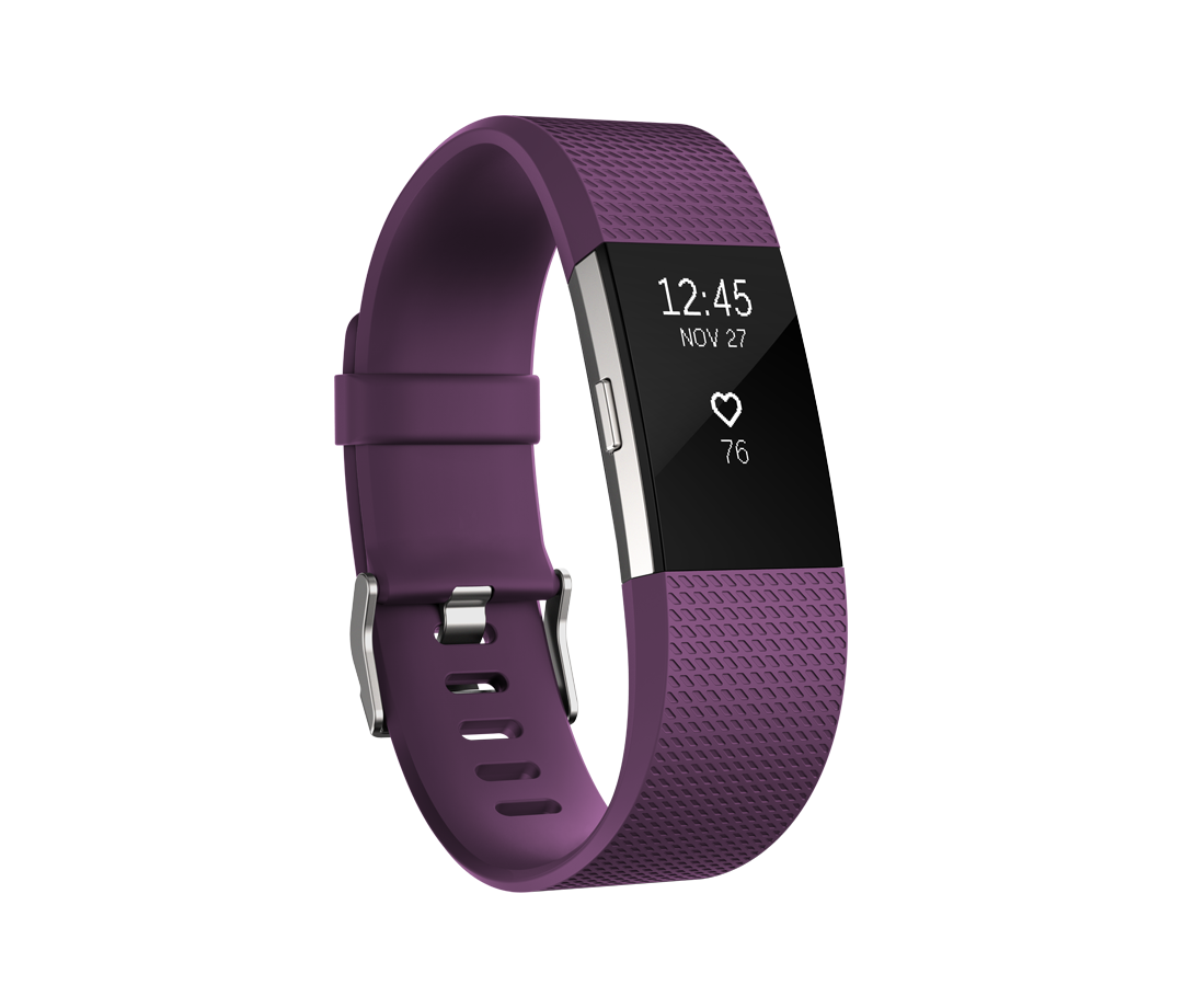 Fitbit Charge HR 2 pruim - large